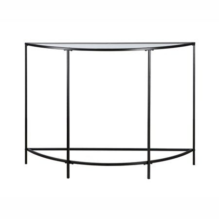 Sauder Soft Modern Collection Sofa Console Table Black