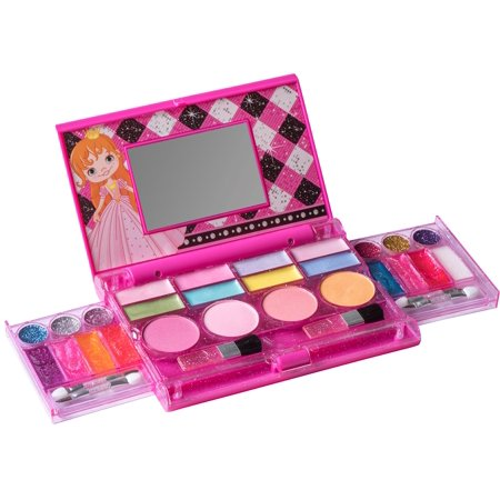 Playkidz: My First Princess Makeup Chest, Girl's All-In-One Deluxe Cosmetic and Real Makeup Palette with Mirror (Washable) - Halloween Makeup Zombie/dead Girl