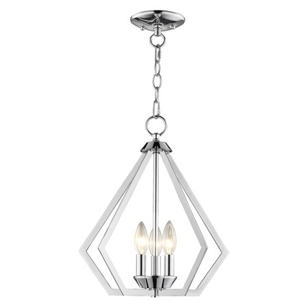 - Livex Lighting Prism 3 Light Convertible Mini Chandelier/Ceiling Mount