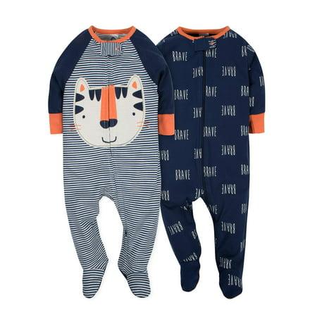 Gerber Zip front sleep n play, 2pk (baby boy)