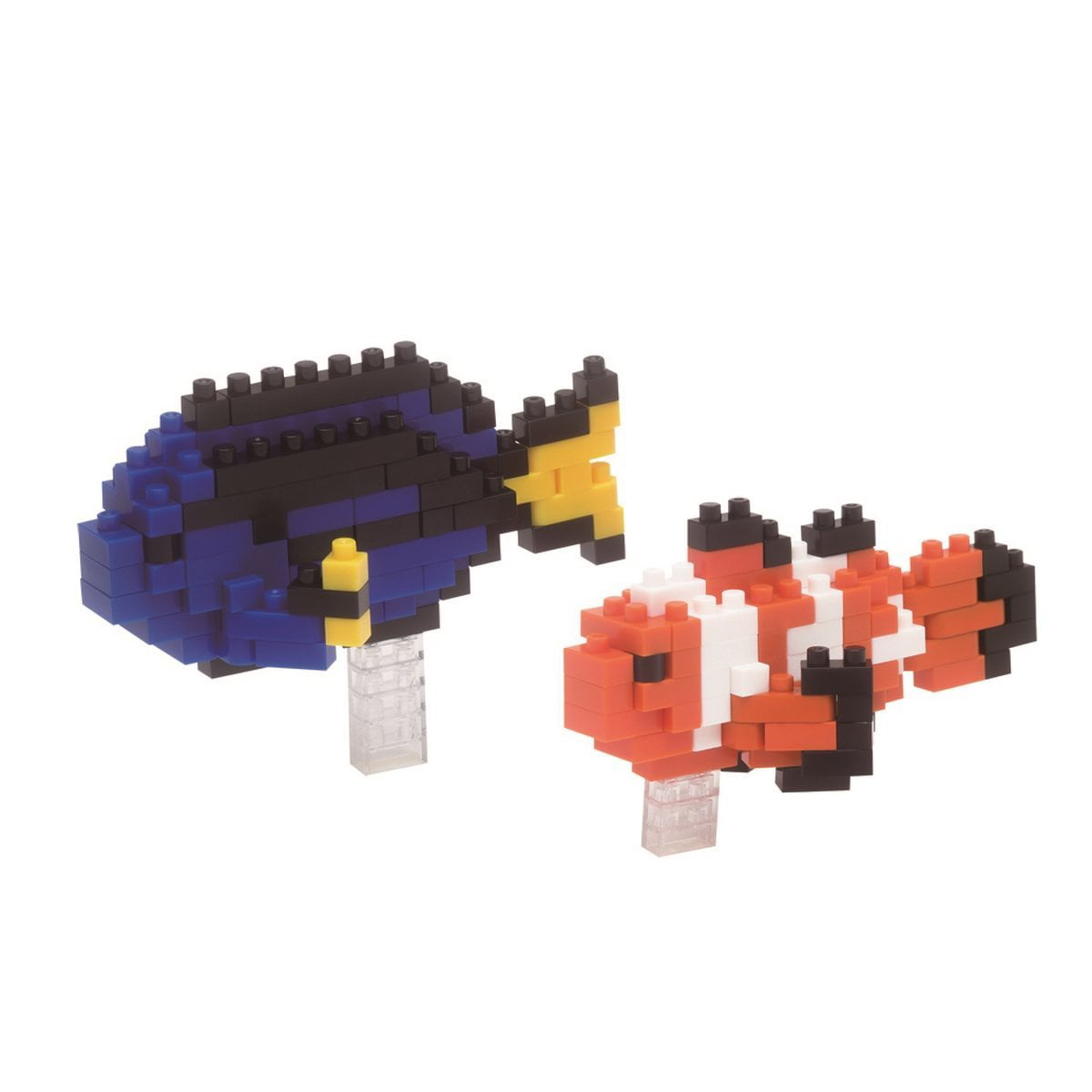 Clownfish & Palette Surgeonfish Building Kit, An aquarium in bricks, watch the fish swim... by