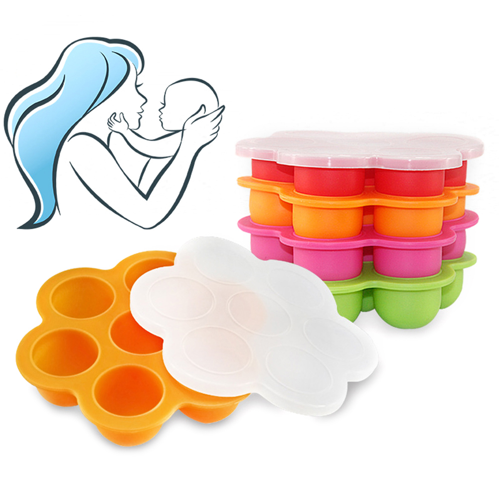 Girl12Queen Silicone Weaning Baby Food Silicone Freezer Tray Storage Container BPA Free