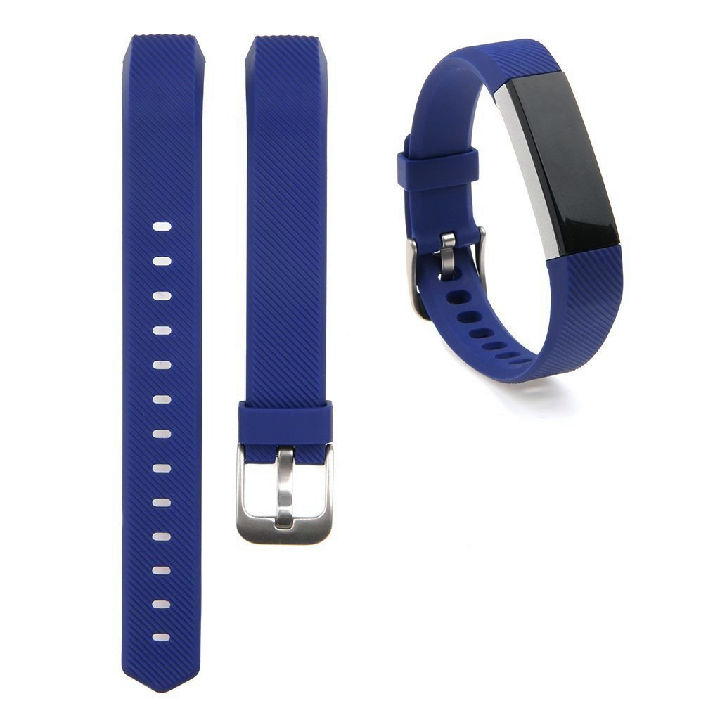 EEEKit Replacement Wrist Band Soft Silicon Strap Clasp Buckle For Fitbit Alta(Deep Blue)