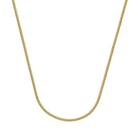 18k Yellow Gold 1.65mm Round Wheat Chain Necklace Lobster Lock Closure - Length: 16 to 20 18k Yellow Gold Necklace
