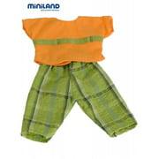 "Orange Shirt and Green Trousers Set (40 cm, 15 3/4"")"