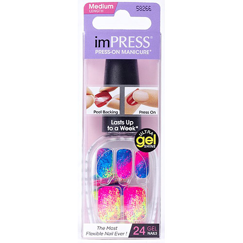 Broadway Nails imPRESS Press-On Manicure Nail Covers, Almost Famous, 24 count