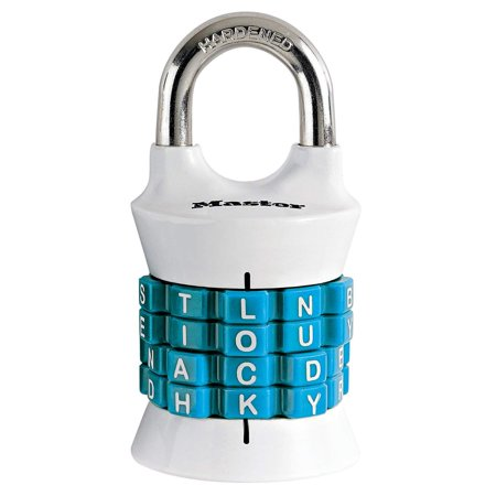 1535DWD Set Your Own WordWalmartbination Padlock, 1-1/2 in. Wide with 15/16 in. Long Shackle, Assorted Colors, Indoor padlock is best used as a school locker lock and gym.., By Master (Best Combination Lock For School Locker)