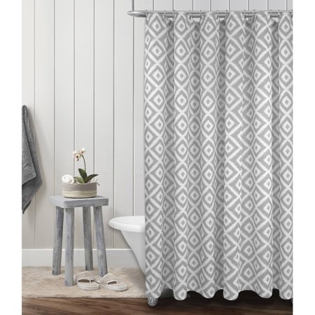 Mainstays Diamond Geo Shower Curtain ()