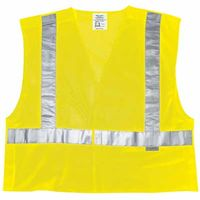 Luminator Class II Tear-Away Safety Vests, Large, Fluorescent Lime, Sold As 1 Each