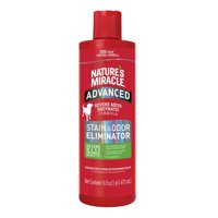 Natures Miracle Advanced Stain & Odor Eliminator, 16 fl oz, Fresh Scent, Severe Mess Enzymatic Formula for Tough Pet Messes