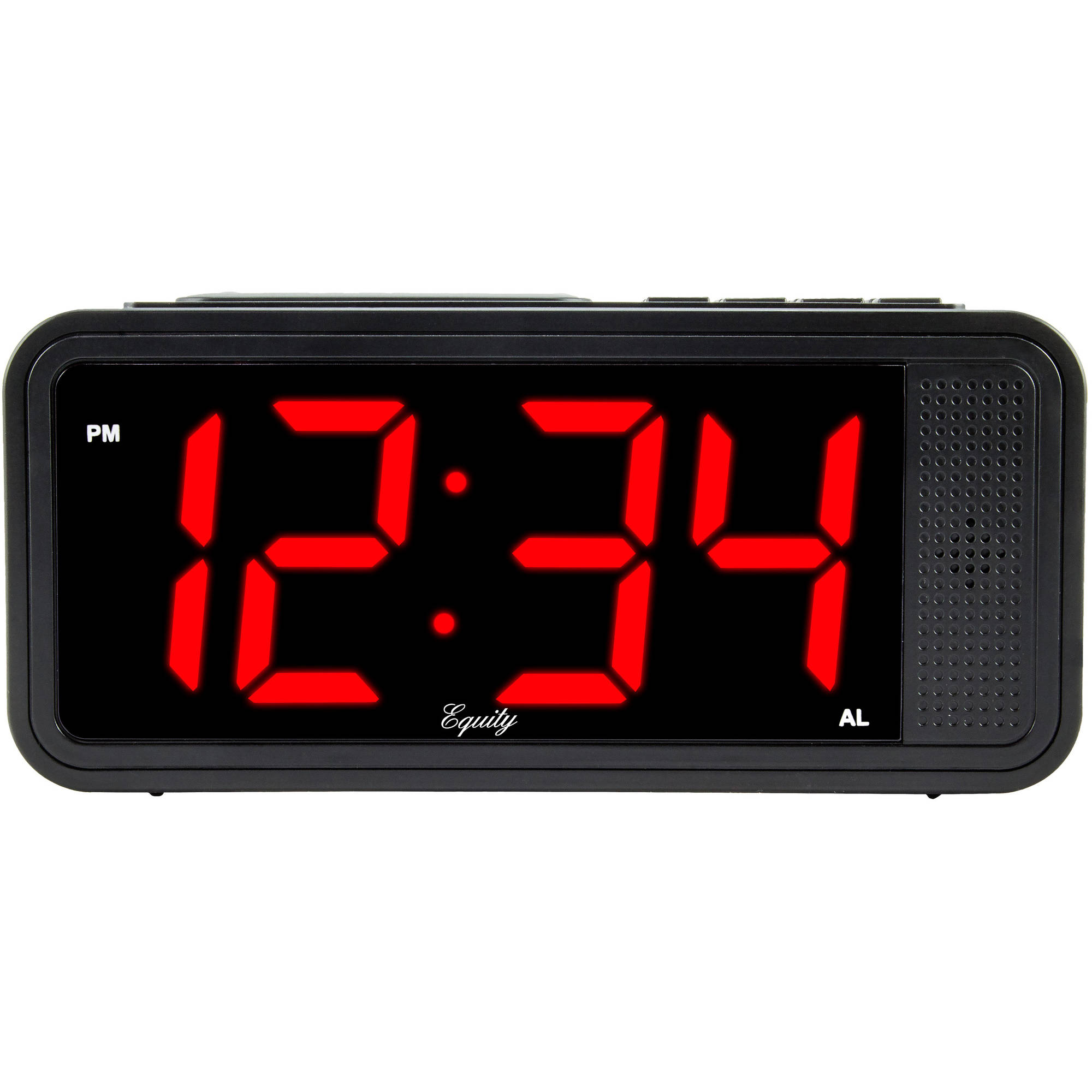 "Equity by La Crosse 75907 1.8"" LED Simple Set Alarm Clock with Dimmer by La Crosse Technology Ltd."