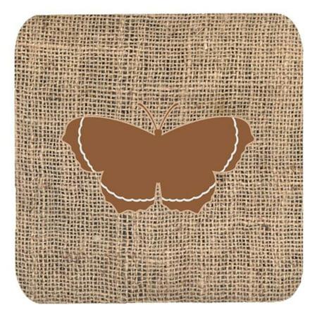 Carolines Treasures BB1037-BL-BN-FC Butterfly Burlap And Brown Foam Coasters, Set Of 4 - image 1 de 1