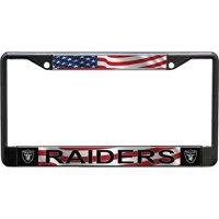 Las Vegas Raiders Acrylic USA Flag License Plate Frame