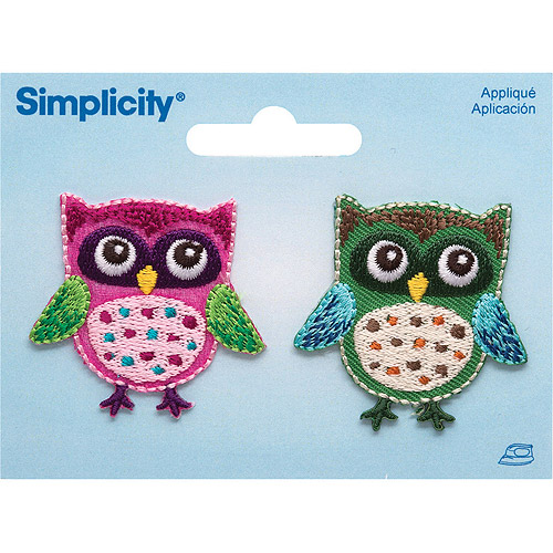 "Owls Iron-On Applique, 1-3/4"" x 1-1/2"" 2-Pack"