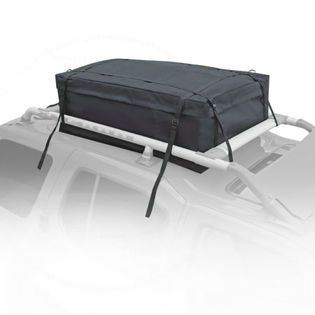 (Fit Volvo Cargo Bag Water-Resistant Luggage Carrier Roof Top Cross Bar Mount For C30 S40 S60 S80 2004 2005 2006 2007 200)