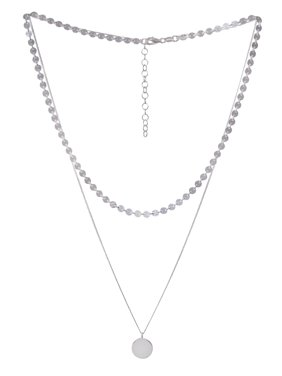 6777ab84461a Product Image Sterling Silver Two Strand Layered Necklace