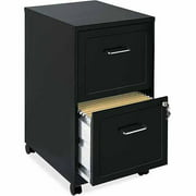 Lorell 2 Drawers Steel Vertical Lockable Filing Cabinet Black Image 1 Of 3
