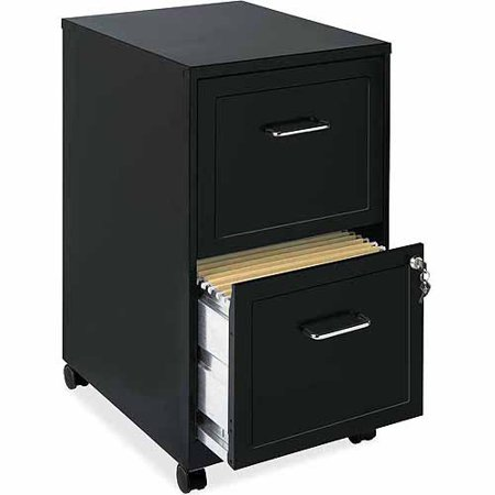 Lockable Cupboard - Lorell 2 Drawers Steel Vertical Lockable Filing Cabinet, Black
