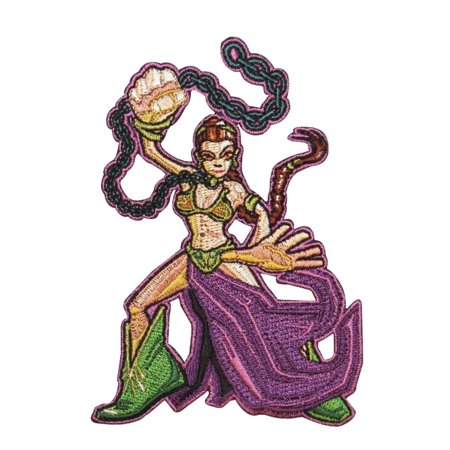Leia Slave Outfit (Disney Star Wars Cartoon Slave Leia Patch Officially Licensed Iron On)