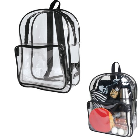 bf3105fe5aa Adult Sized 14 High School Clear Backpack Transparent Security Book Bags  Large