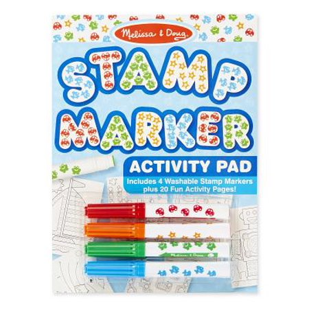 Melissa & Doug Stamp Markers and Activity Pad - Stars, Fish, Cars, and
