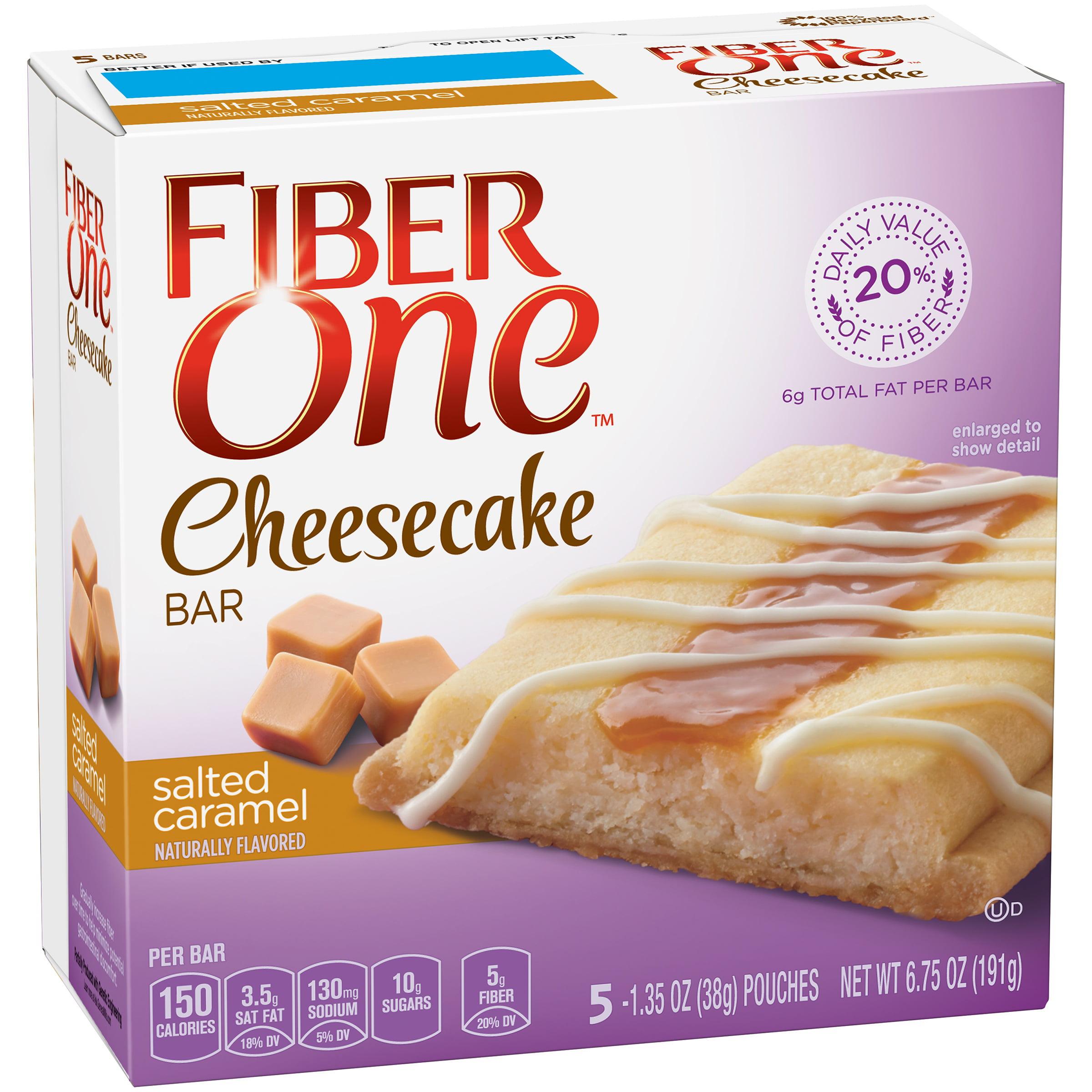 Fiber One Cheesecake Bar Salted Caramel 5 1.35 oz Bars by General Mills Sales, Inc.