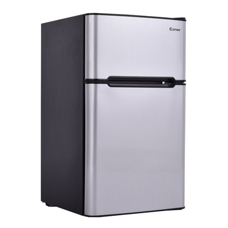 Stainless Steel Refrigerator Finishing Frame - Stainless Steel Refrigerator Small Freezer Cooler Fridge Compact 3.2 cu ft. Unit