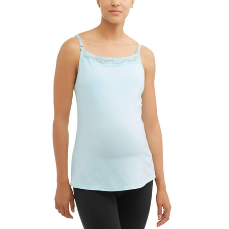Maternity Nursing Cami with Lace Trim - Available in Plus Size, Style
