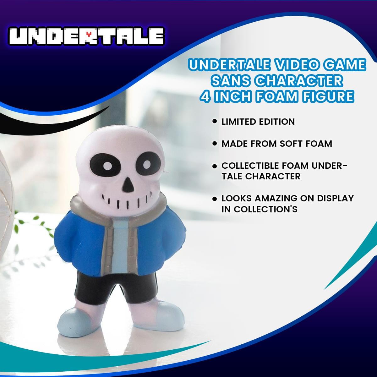 Undertale Video Game | Sans Character | 4 Inch Foam Figure