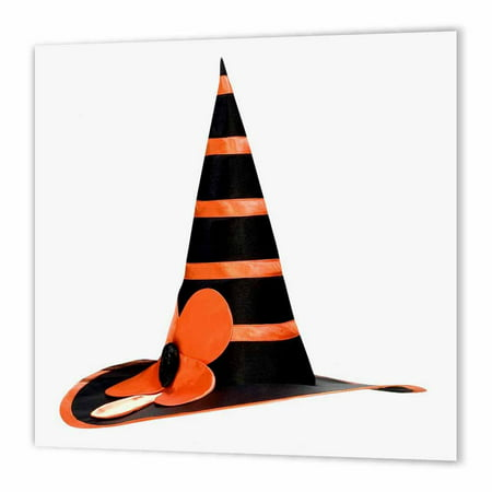 3dRose Halloween Witches Orange Hat, Iron On Heat Transfer, 6 by 6-inch, For White Material for $<!---->