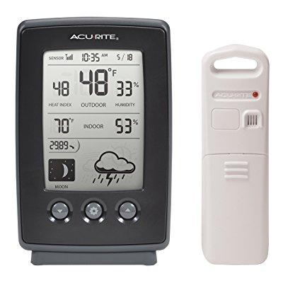AcuRite 00829 Wireless Weather Station with Forecast, Temperature, Clock, Moon Phase by AcuRite