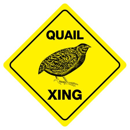QUAIL XING Funny Novelty Hunting Crossing Sign ()