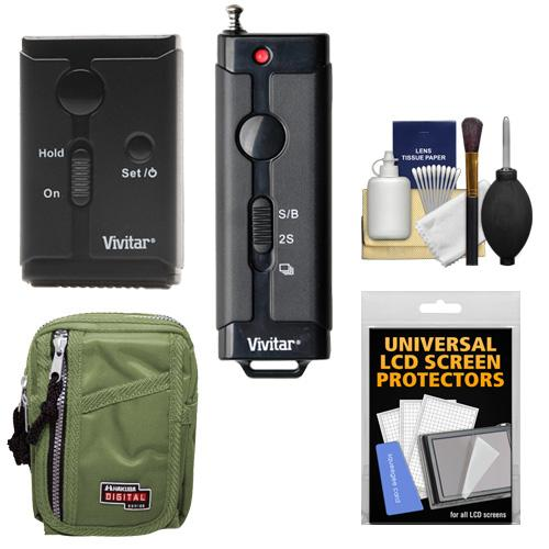Vivitar Universal Wireless and Wired Shutter Release Camera Remote Control with Travel Case + Accessory Kit for Nikon D3100, D3200, D5100, D7000, D600, D700, D800, D3x, D4 Digital SLR Cameras