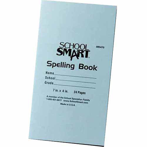 """School Smart Blank 48-Page Spelling Books, 5.5"""" x 8.5"""", Pack of 24"""