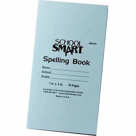 (School Smart Spelling Blank Book, 5-1/2 x 8-1/2 in, 48 Pages, Pack of 24)