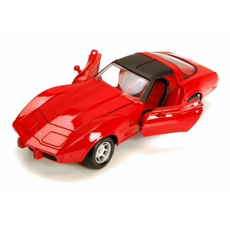 1979 Chevy Corvette, Red - Motormax Premium American 73244 - 1/24 Scale Diecast Model Car