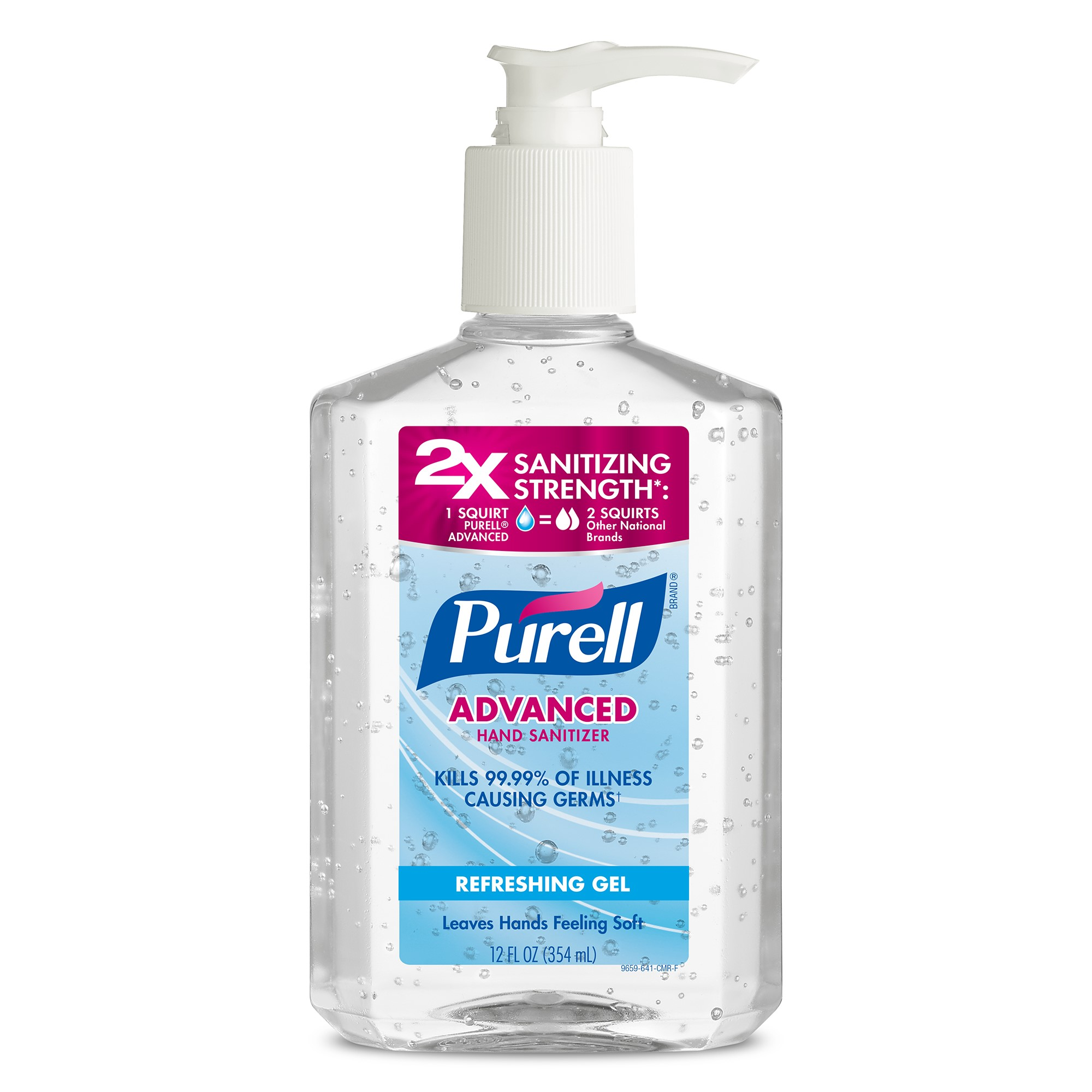 PURELL® Advanced Refreshing and Moisturizing Gel Hand Sanitizer, 12 fl oz Pump Bottle