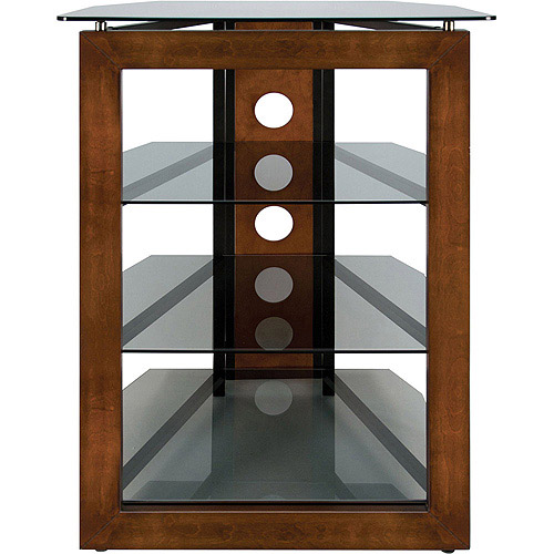 "Bello Flat Panel TV Stand for TVs up to 32"", Walnut/Smoke"