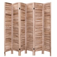 Product Image Costway 67 High 6 Panel Room Divider Furniture Clic Venetian Wooden Slat Home