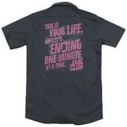 Fight Club Life Ending (Back Print) Mens Work Shirt