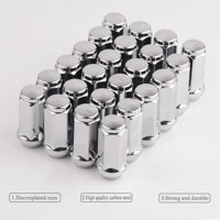 "24 Chrome Acorn Lug Nuts 14x1.5 for Chevy Silverado 1500 Suburban Tahoe 1.9"" TAl"