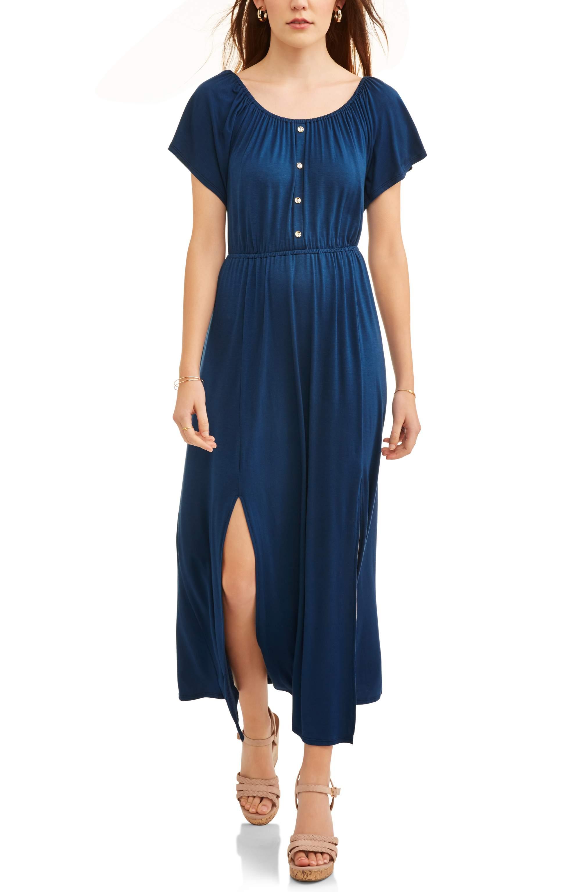 Women's Flutter Sleeve Maxi Dress