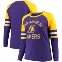 Los Angeles Lakers Fanatics Branded Women's Plus Iconic Long Sleeve T-Shirt - Purple
