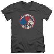 Beetle Bailey Red White And Bailey Mens V-Neck Shirt
