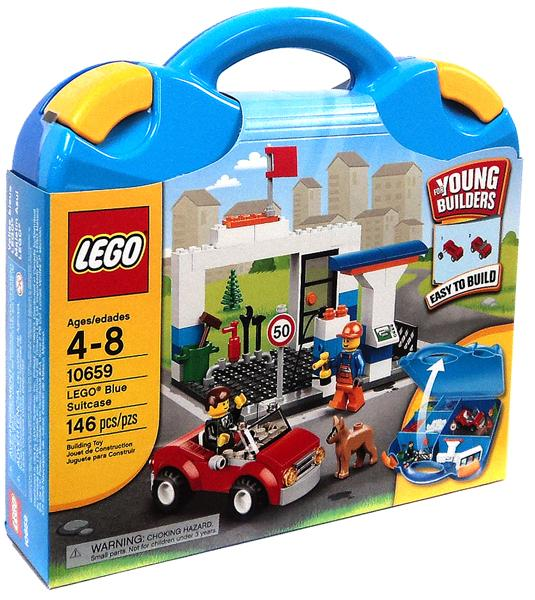LEGO Bricks and More LEGO Blue Suitcase Play Set