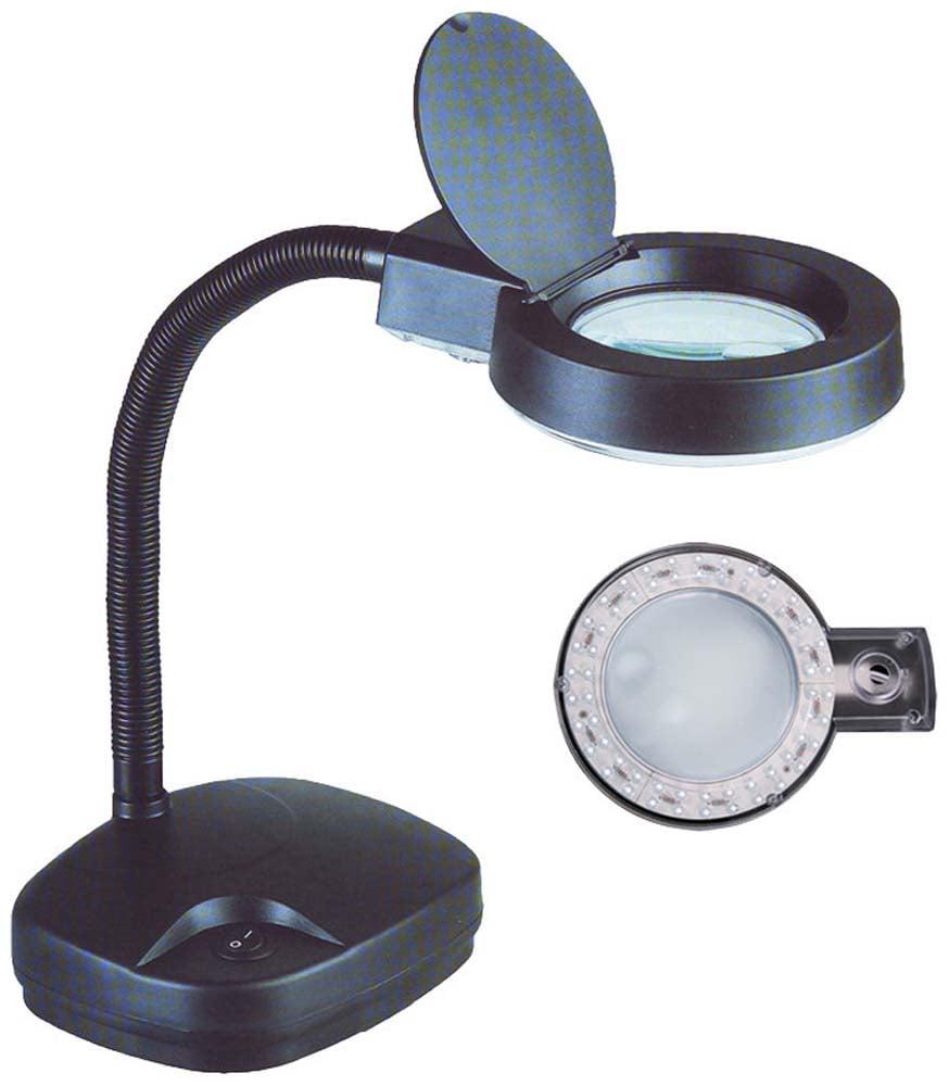 3x 8x Black Plastic LED Illuminated 110v Gooseneck Lamp (ToolUSA: CR-29255) by ToolUSA