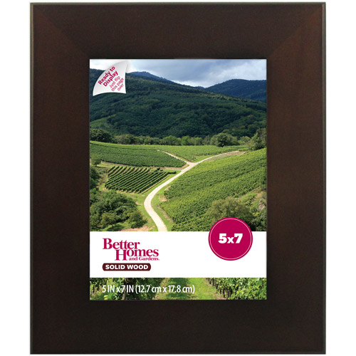 Better Homes and Gardens 5x7 Picture Frame, Mahogany