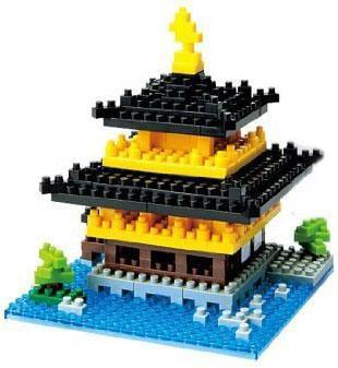 Nanoblock Micro-Sized Building Block Kinkaku-ji Figure Set by nanoblock