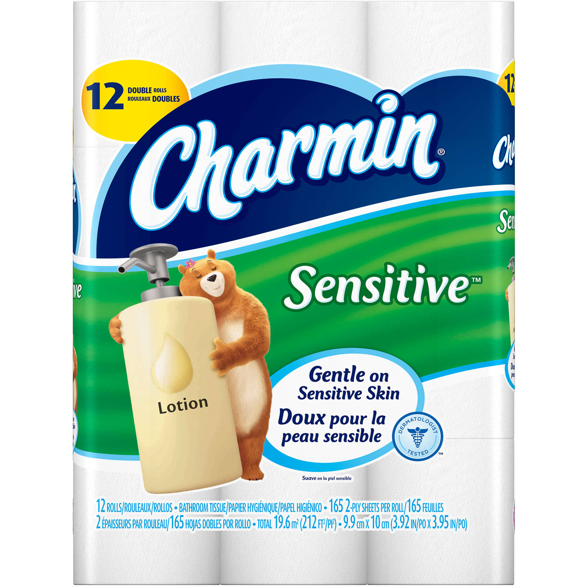Charmin Sensitive Double Roll Bathroom Tissue, 12 rolls