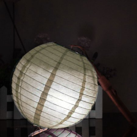 Party Paper Round Handmade DIY Decor Lantern Off White 16 Inch Dia - image 6 of 7